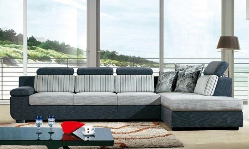Divani E Cuscini.Divano Salotto Mega Sofa Tessuto Angolare Sofa Americano Soggiorno