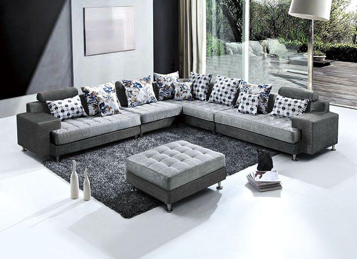 Divani E Cuscini.Sofa Lounge Mega Sofa Fabric Corner Sofa American Stay And Pillows