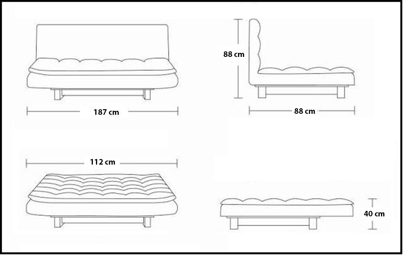 Dimensioni Divano Letto Una Piazza E Mezza.Sofa Divano Letto Reclinabile Salotto Ecopelle Bianco 3 Posti