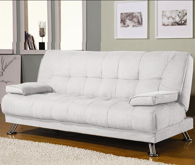 Divano Letto Pelle Bianco.Sofa Divano Letto Reclinabile Salotto Ecopelle Bianco 3 Posti