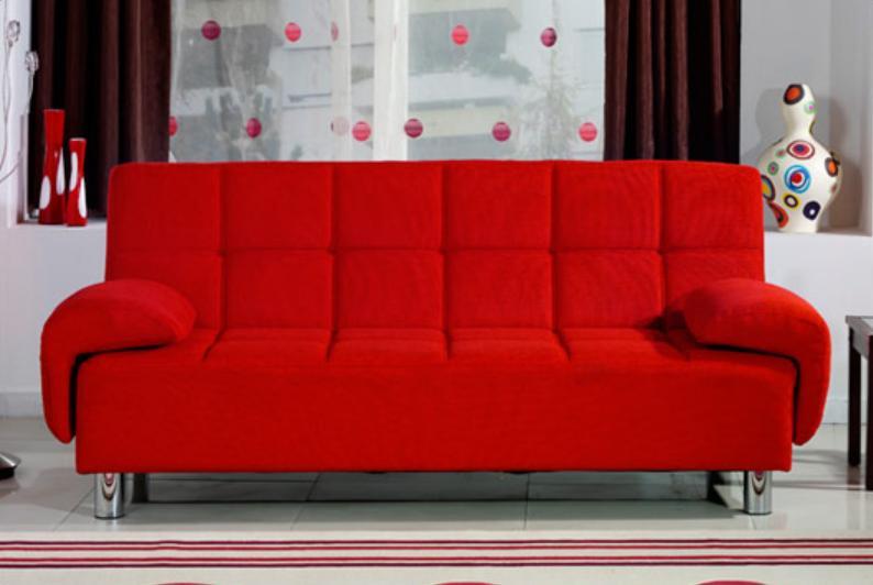 Divano Letto Rosso.Divano Letto 3 Posti Reclinabile Salotto Ecopelle Rosso Sofa