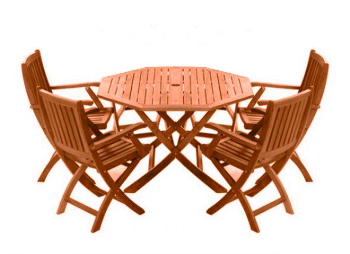 Arredamento Esterno Tavoli Giardino Set Tavolo Da Giardino Pieghevole 4 Sedie In Legno C G Home Design